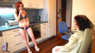 Mature and granny lesbian and threesome orgy