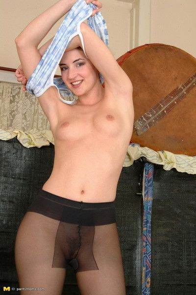 Mommy taking off her panties