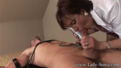 Lady Sonia likes to have very little resistence to her attentions and the solution is beautiful in its simplicity...