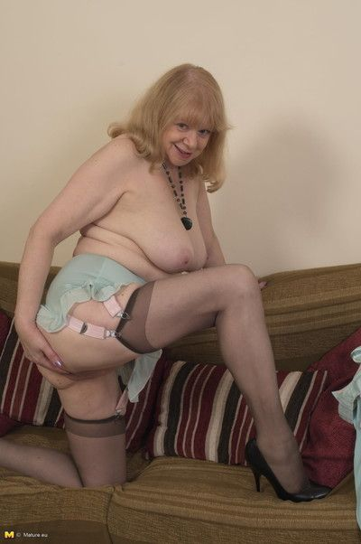 Horny british housewife teasing and pleasing