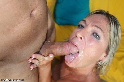 Dirty milf  brandi jaimes sucking huge dick like its her last on