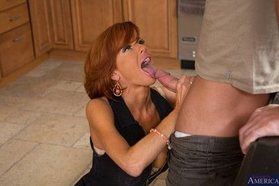 Naughty milf lady banged in her kitchen