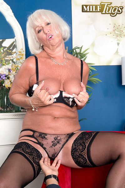 Busty granny milf jeannie lou in action