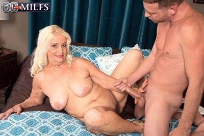 Dirty blond granny vikki vaughn loves to feel huge cock deep dow