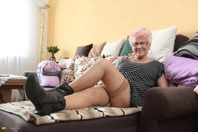 Mature gerdi is one horny german housewife