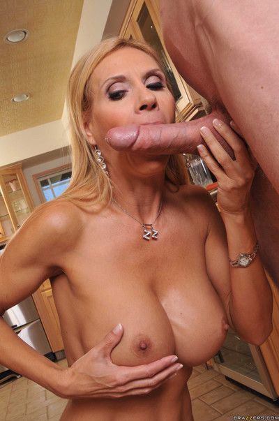 Sexy blonde milf getting fucked by huge cock