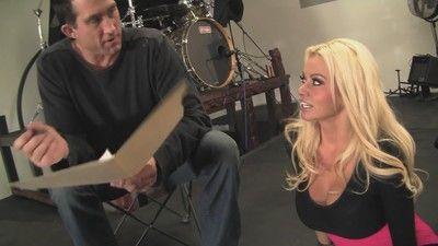 Big titted blonde milf slut licking horny asshole