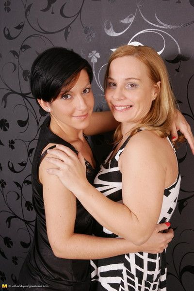 Naughty housewife playing with her hot young lesbian girlfriend
