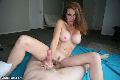 Hot milf raquel devine milking dick for some jizz