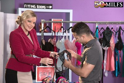 Hot mature fucking in the shop