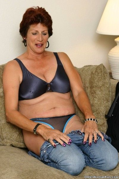 Granny sally with big tits and hairy pussy