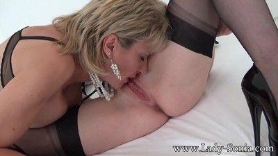 British lesbian milf lady sonia licking old redhead girlfriend