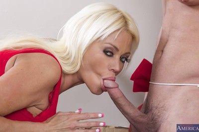 Horny titted milf getting christmas pleasure
