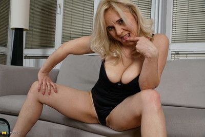 This naughty cougar loves to fool around