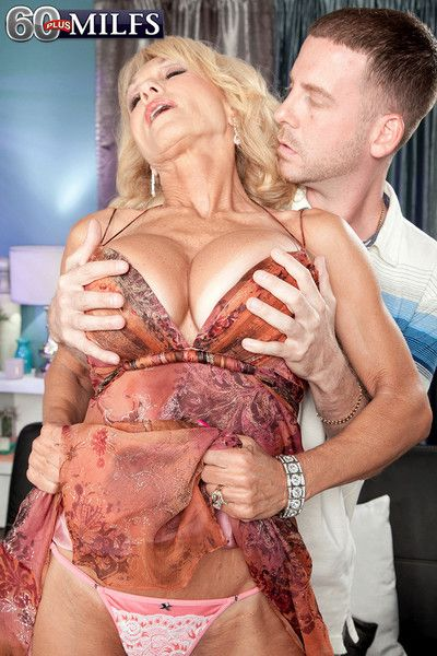 Busty blonde mature lady getting fucked