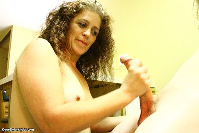 Older milf whore milking younger dick with so much fun