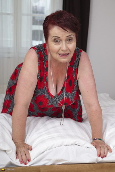 Naughty hairy granny gets it in pov style