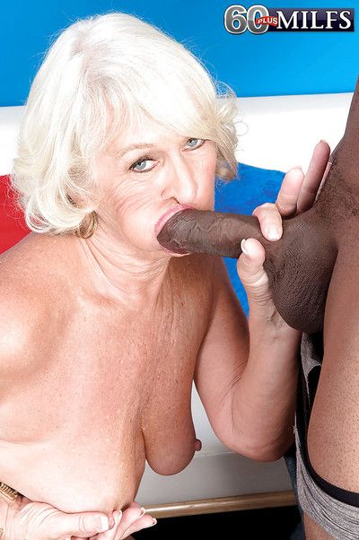 Mature with tight pussy Jeannie Lou roughyl fucked by younger black male