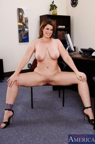 Voluptuous office milf Lisa Sparxxx with huge hooters takes on hard cock