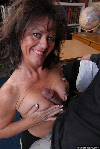 Granny Debella is a teacher that likes a hands-on approach to sex ed