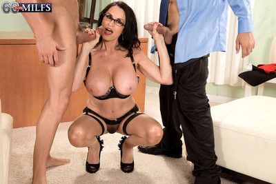 Granny rita craving two huge cocks and some anal fucking