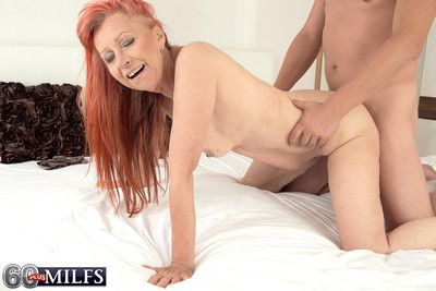 For starters hot redhead granny charlotta gets assfucked