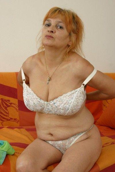 Czech amateur granny with big boobs