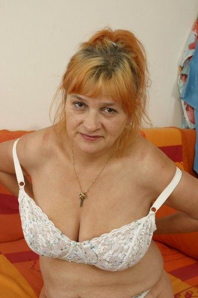 Czech amateur granny with big boobs
