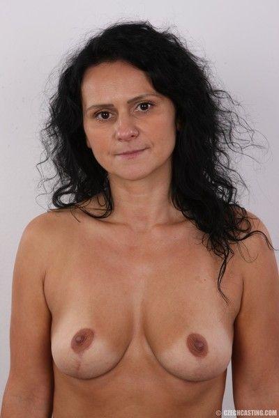 Naked mature brunette