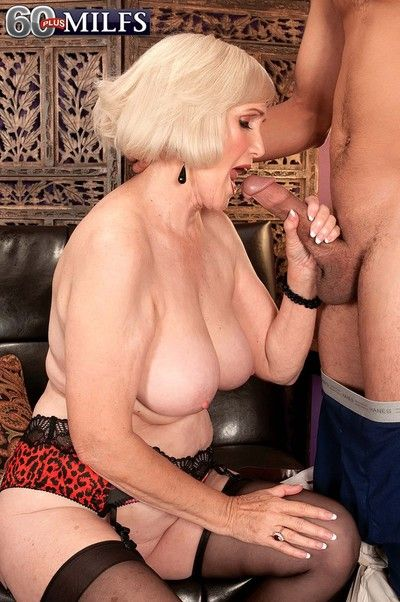 Busty granny lola lee having stiff rod to fuck