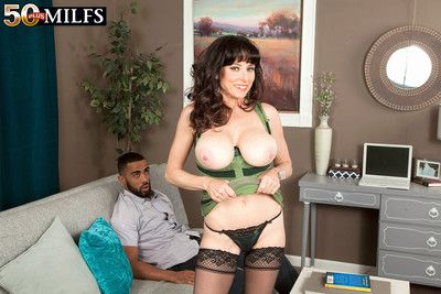 Karen kougar is back for a big black cock