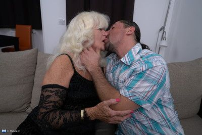 Horny mature lady doing her lover