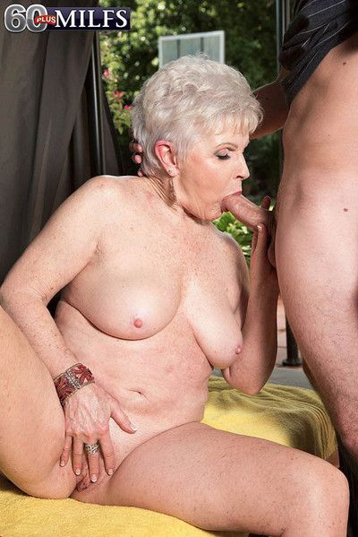 Hot granny slut jewel having a young dick for some fun