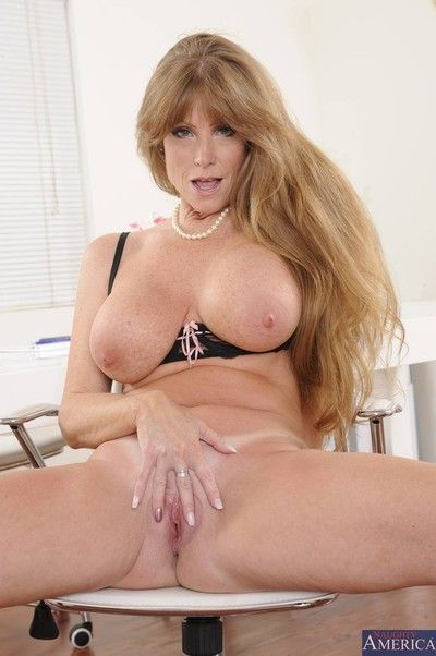 Real huge titted cougar banged in her house
