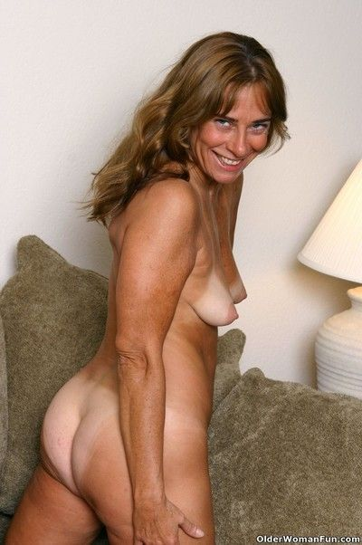 Tanned granny shana shows her hot body