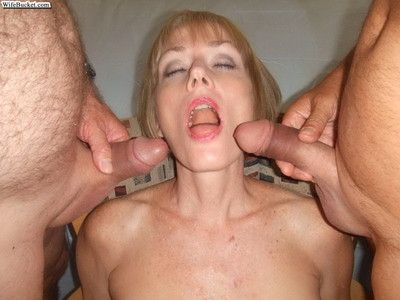 Nextdoor mature wives choking on cocks