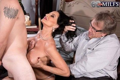 Busty 60milf rita daniels fucks while her hubby watch