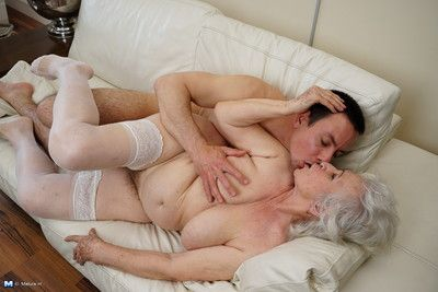 Naughty granny doing her toy boy