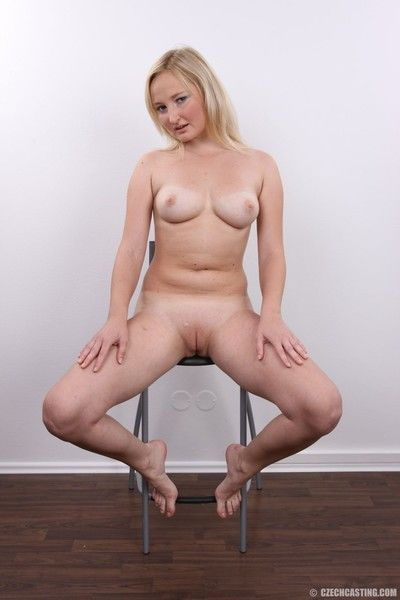 Blonde housewife posing nude