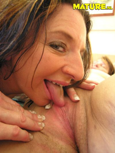 Mature lesbians at play all night long