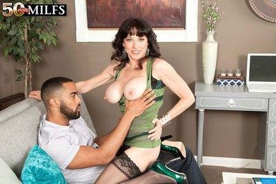 Hot sexy milf karen kougar fucking her pussy with hard dick