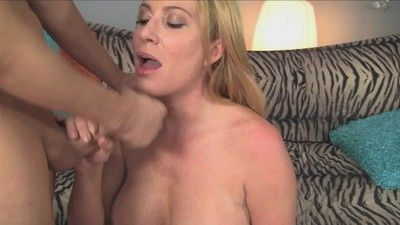 Sexy titted milf lady licking horny asshole