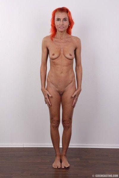 Mature amateur redhead in casting pics