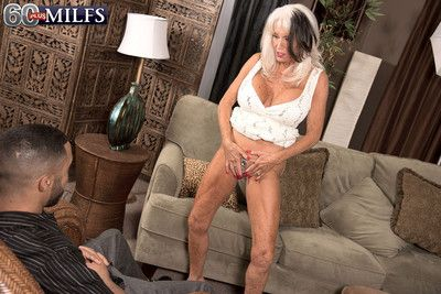 Blonde mature fucked by her first bbc