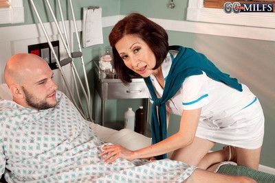 Horny asian granny getting fucked in a hospital