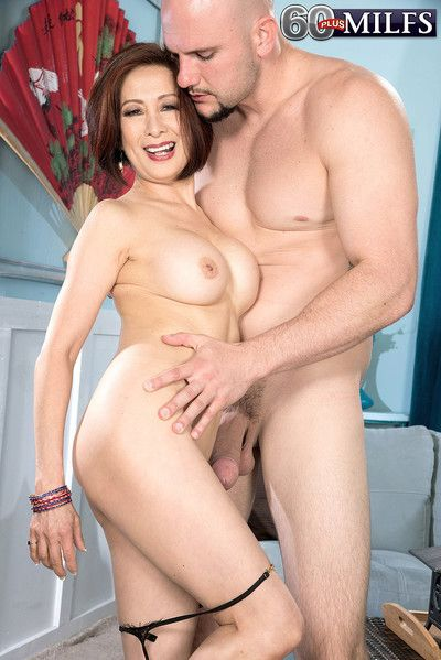 Old asian housewife sucks and fucks in harcore porn pics