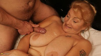 Horny mature slut enjoying a hard cock
