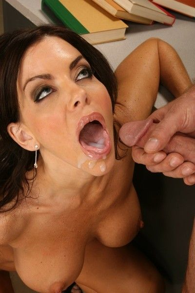 Sexy milf teacher fucks a male student after class
