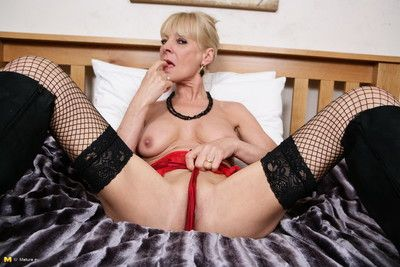 British housewife getting wet in bed