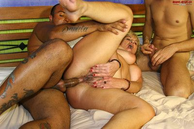 This mature mama wants two cocks at once